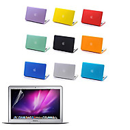 "Case for Macbook Air 13.3"" Solid Color Plastic Material Top Quality Full Body Matte Case and Screen Protetive Film"