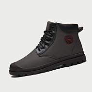 Støvler-PU-Komfort-Herre-Blå Grå-Fritid-Flad hæl