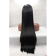 Synthetic Lace Front Wigs Natural Black Silky Straight Synthetic Wigs Cosplay Wigs