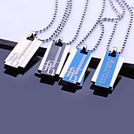 Personalisierte Geschenke Edelstahlschmuck Drei Schicht-Gravur Anhänger Halskette mit 60cm Kette