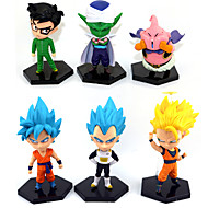 Anime Action Figures Inspired by Dragon Ball Goku Anime Cosplay Accessories Figure (6pcs)