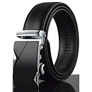 Men's Black Fashion Luxury Automatic Buckle Waist Belt Work/Casual Alloy/Leather All Seasons