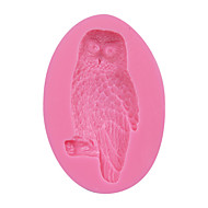 Owl Shape 3D Silicone Cake Fondant Mold,Cake Decoration Tools, Soap/Candle Moulds Sugar Cake Mold Tool SM-078