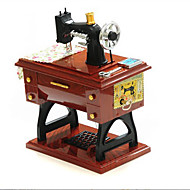 1 PC Creative Music Phonograph Modelling Desktop Decoration Furnishing Articles Retro Music Box Opening Gifts