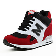 Women's Athletic Shoes Spring Summer Fall Winter Platform Suede Outdoor Office & Career Casual Wedge Heel Platform Lace-up Black Red Gray