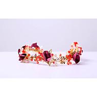 Women's Rhinestone Crystal Alloy Chiffon Headpiece-Wedding Special Occasion Outdoor Headbands 1 Piece