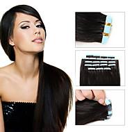 20st 1.5-2g / pc 16-24inch Braziliaanse maagdelijke tape menselijk haar uitbreiding # 2 tape in human hair extensions 002