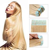 30 až 50 g / pack 16-24inch brazilský páska rozšíření lidské vlasy # 24 pásku v lidských prodlužování vlasů 002