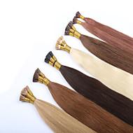 """20 """"I ponta extensões de cabelo humano 100g queratina ponta remy extensões de cabelo humano extensão do cabelo prebonded final de"""