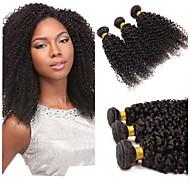 טווה שיער אדם שיער מלזי Kinky Curly חלק 1 שוזרת שיער