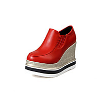Women's Boots Spring Fall Winter Platform Other Leatherette Office & Career Dress Casual Party & Evening Platform Gore Black Red White