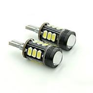 teso t15 5W dc 11-13 v 12pcs 5630/5730 LED SMD 6000-6500k destacando desonestos lâmpada lente back-up levou luzes de freio