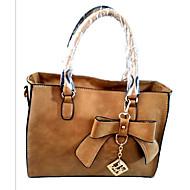 Žene Tote torbica Kravlja koža Sva doba Mašnica Patent-zatvarač Bijela Zelen Plava Lila-roza Svijetlosiva
