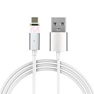 type C Magnétique Câble Pour Samsung / Huawei / HTC / LG / Xiaomi 100 cm PVC / Aluminium