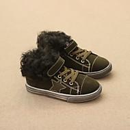 Boy's Flats Winter Comfort Suede Casual Flat Heel Black Green Gray