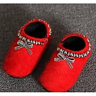 Girl's Boots Comfort Fur Casual Black Red Gray