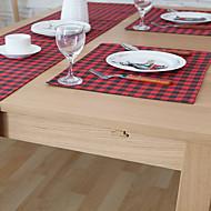 ריבוע Print / משבצות משטחי שולחן , תערובת כותנה חוֹמֶר שולחן אוכל במלון / שולחן Dceoration