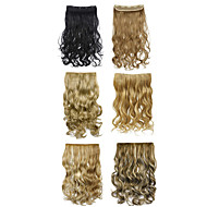 קליפ בהארכת שיער תוספות שיער סינטטי Ombre שני גווני צבע 888