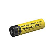 nitecore nl1826 2600mAh 3.7v 9.6wh bateria recarregável 18650 li-ion