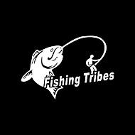 engraçado tribos de pesca estilo do carro parede da janela de carro adesivo de carro decalque (1pcs)