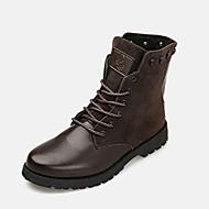Støvler-Fleece PU-Komfort-Herre-Sort Blå Brun-Fritid-Flad hæl