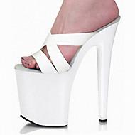 Sandály-PU-Pohodlné Novinky S páskem-Dámské-Bílá Červená-Svatba Šaty Party-Vysoký