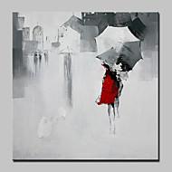 Håndmalte Mennesker Abstrakte Landskap Firkantet,Moderne Europeisk Stil Et Panel Lerret Hang malte oljemaleri For Hjem Dekor