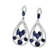 Visací náušnice Zirkon Slitina Modrá Šperky Ležérní 1 pár