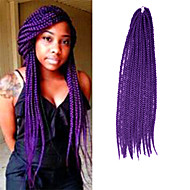 Box Braids Twist Braids Hårforlengelse 24Inch Kanekalon 24 Strands (Recommended By 5 Packs for a Full Head) Strand 90g gram Hair Braids