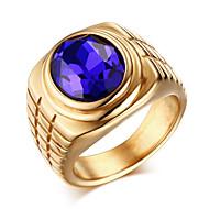 Statementringen Ring Zirkonia Titanium Staal Modieus Goud Zilver Sieraden Dagelijks Causaal 1 stuks