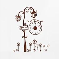 מודרני / עכשווי פרחוניים/בוטניים דמויות מעורר השראה חתונה משפחה חברים שעון קיר,מצחיק פלסטיק אחרים 66*50 בבית/ בטבע שָׁעוֹן