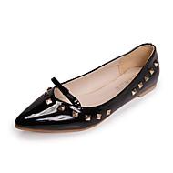 Women's Boots Winter Comfort PU Casual Chunky Heel Zipper Black / Burgundy Others
