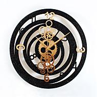 Moderne/Contemporain Traditionnel Décontracté Bureau / Affaires Vacances Inspiré Famille Amis Dessin animé Horloge murale,Rond Nouveauté