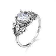 Δαχτυλίδι Cubic Zirconia Ζιρκονίτης Cubic Zirconia μινιμαλιστικό στυλ Μοντέρνα Λευκό Κοσμήματα Causal 1pc