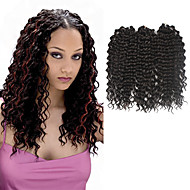 torsión de profundidad Trenzas ganchillo pre-loop Extensiones de cabello 16Inch Kanekalon 1 Pack for a Full Head Hebra 203g gramoLas