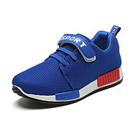 Boy's Athletic Shoes Spring Fall Winter Comfort PU Casual Low Heel Lace-up Black Blue Red Other