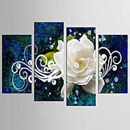 canvas Set Abstrato Floral/Botânico Clássico Estilo Europeu,4 Painéis Tela Qualquer Forma Impressão artística wall Decor For Decoração
