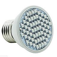 4W E26/E27 LED-drivhuslamper 60 SMD 3528 360-430 lm Rød Blå Vanntett V 1 stk.