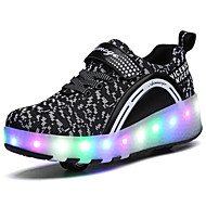 2017 Kids Boy Girl's Roller Skate Shoes / Ultra-light One Two Wheel Skating LED Light Shoes / Athletic / Casual LED Heely's Shoes Black Pink Blue