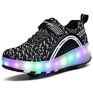 Kényelmes-Alacsony-Női cipő-Sportcipők-Szabadidős Alkalmi Sportos-Tüll-Fekete Kék Rózsaszín