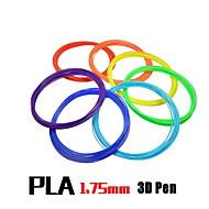 3d printing pen pla materiaal 1.75mm supplies (5 meter 12 kleuren kit)