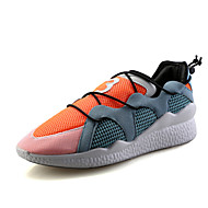 Sneakers-Tyl-Komfort-Dame-Sort Orange-Fritid Sport-Flad hæl