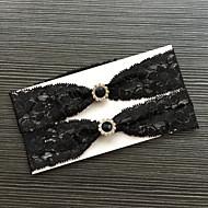בִּירִית תחרה תחרה אבן נוצצת שחור