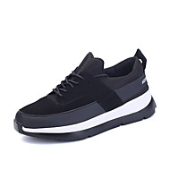 Women's Flats Spring / Fall Comfort Customized Materials Outdoor / Athletic / Casual Flat Heel Lace-up Black / Red / Black and White