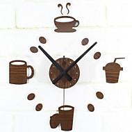 Moderno/Contemporâneo Retro Comida e Bebida Férias Inspiracional Família Amigos Desenho Animado Relógio de parede,Redonda Inovador