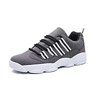 Sneakers-PU-Komfort-Damer-Sort Grå Rød-Udendørs Fritid Sport-Lav hæl