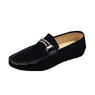Herren-Loafers & Slip-Ons-Lässig-PU-Flacher Absatz-Komfort-Schwarz Blau Grau