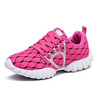 Feminino-TênisRasteiro-Preto Rosa cor de Rosa Azul Claro-Couro Ecológico-Ar-Livre Para Esporte