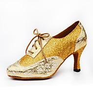 Dansesko(Sort Sølv Guld) -Kan tilpasses-Personligt tilpassede hæle-Damer-Latin Jazz