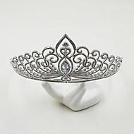 Brass Cubic Zirconia Headpiece-Wedding Special Occasion Casual Tiaras 1 Piece